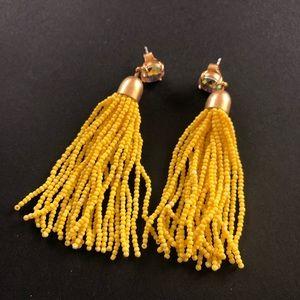 Yellow tassel J Crew earrings